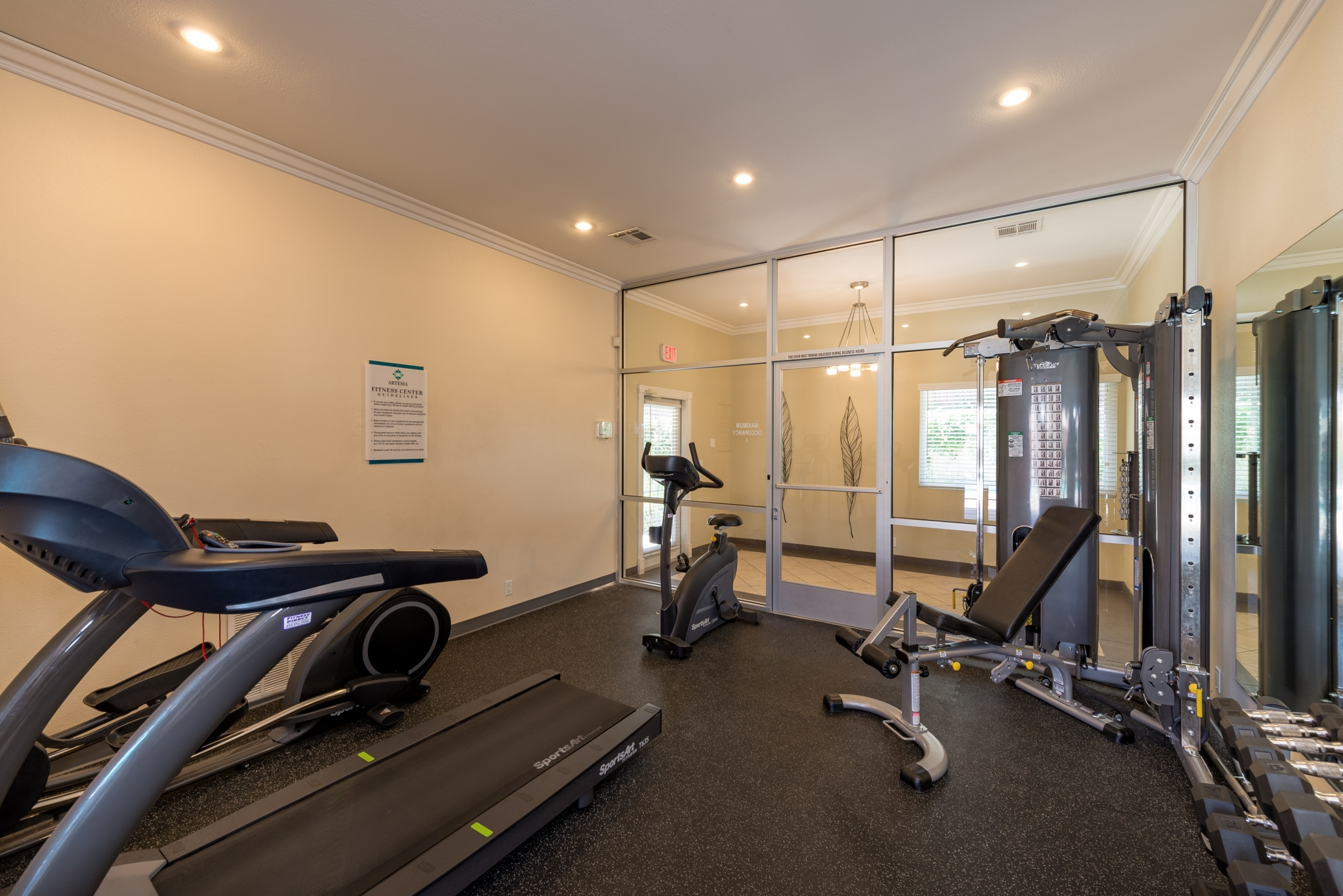 Image of Convenient Onsite Fitness Center for Artesia