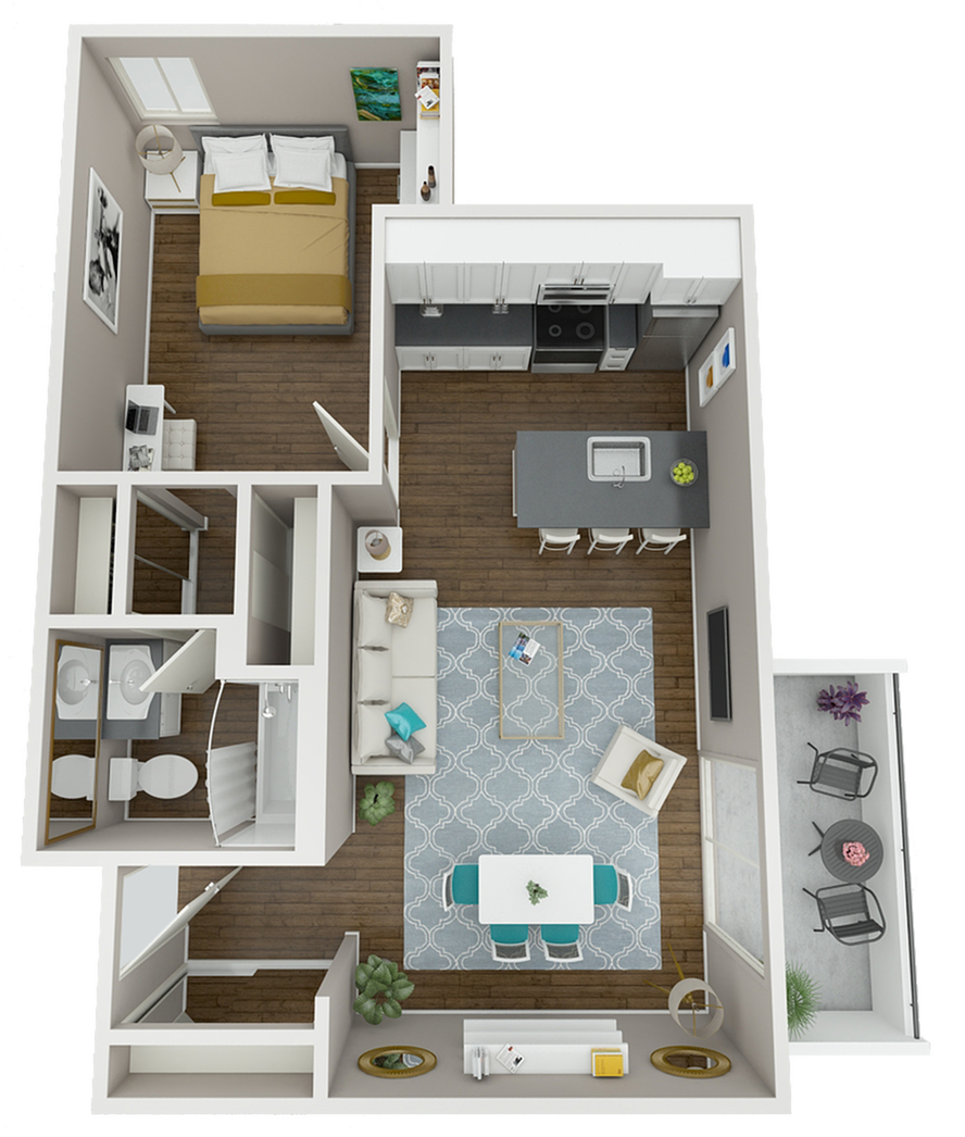 The Panama floor plan is an extra-large corner unit, with an airy, open layout, expansive balcony, and hard-surface flooring in living room and bedroom! Only four of these premium units exist at The Warwick!