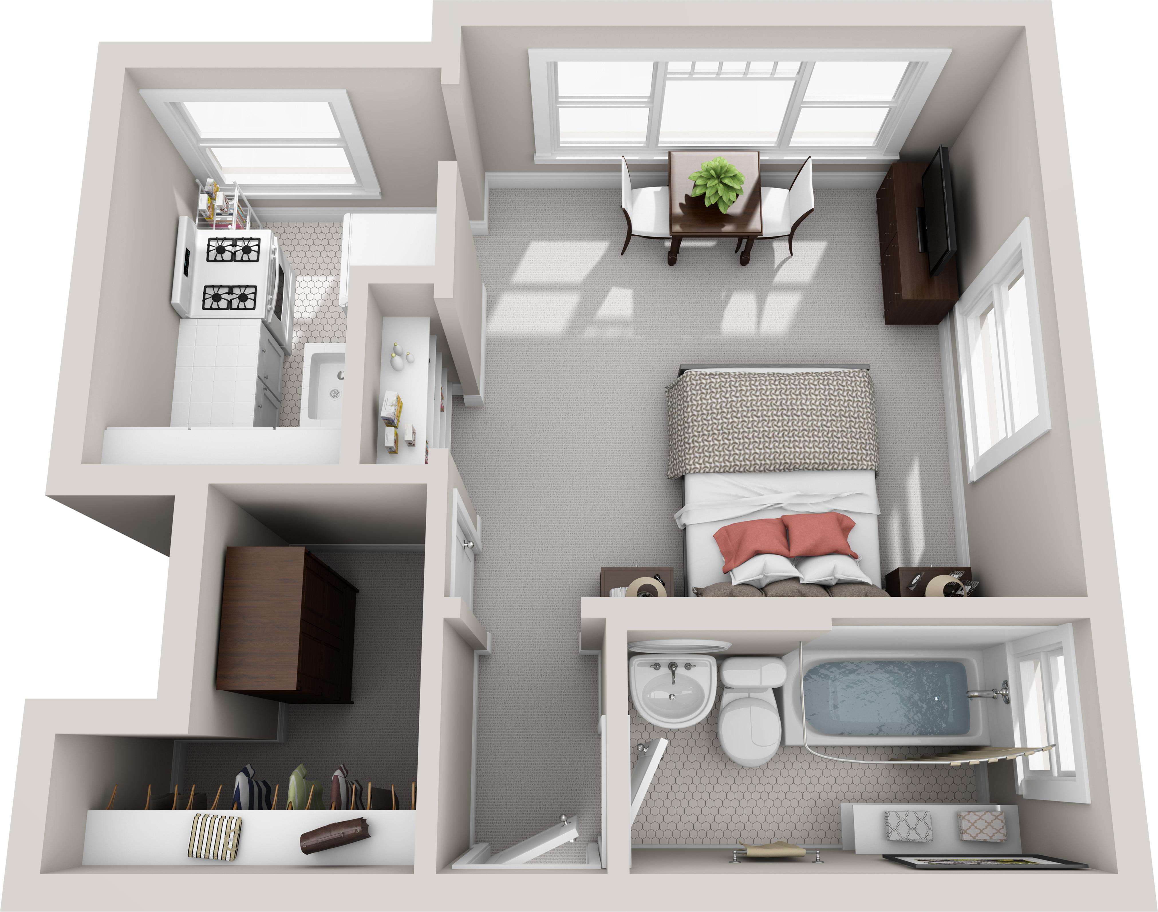 Studio 1 Bath Apartment in San Diego CA