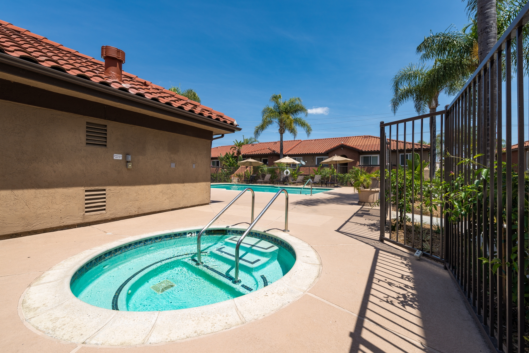 Image of Resort-style Pool & Spa with Cabanas for Artesia