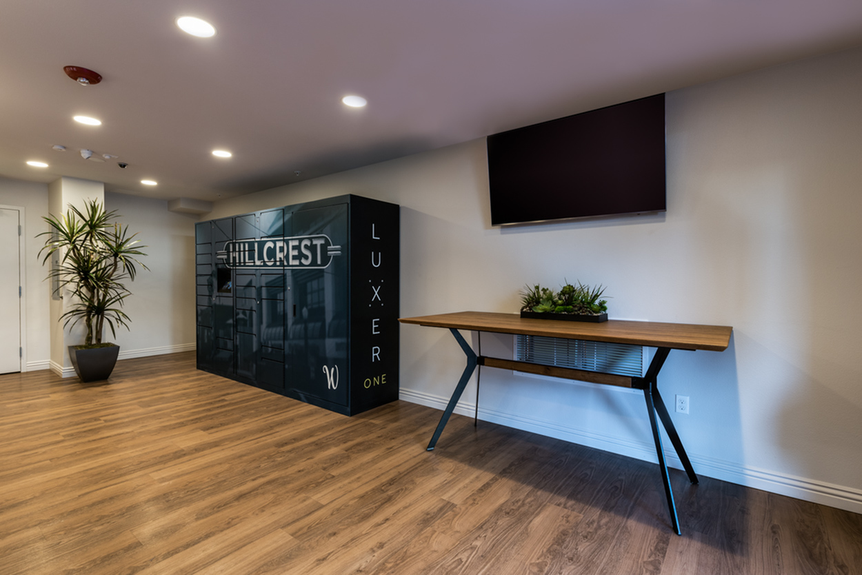 Image of Technology enabled package lockers: pick up your packages on YOUR schedule from a secure onsite locker for The Warwick