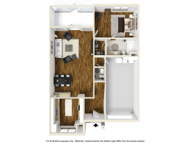 3 Bedroom 3D Floor 1