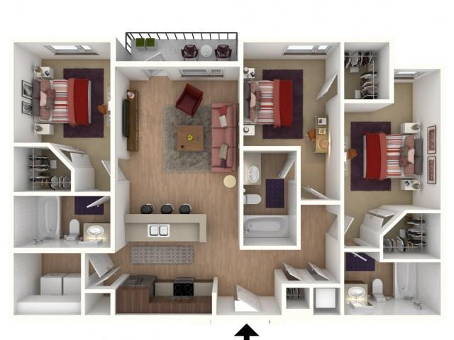 3bdrm Apartment in Comet,
