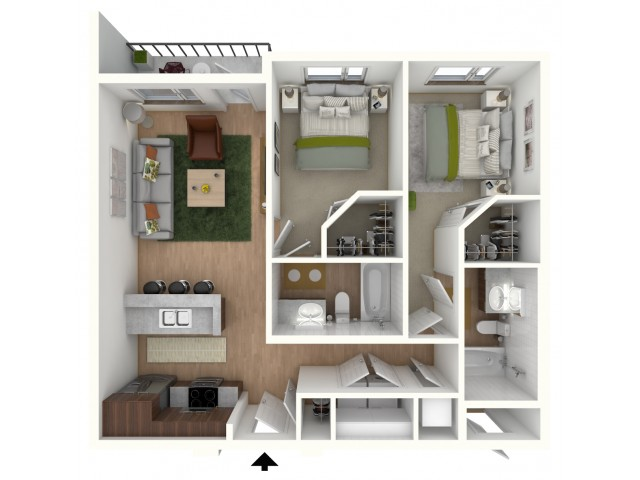B1 - floor plan wfurniture display