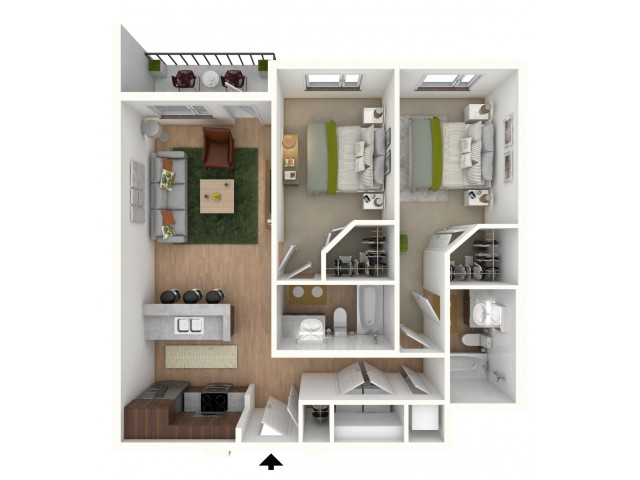 B3 - floor plan wfurniture display