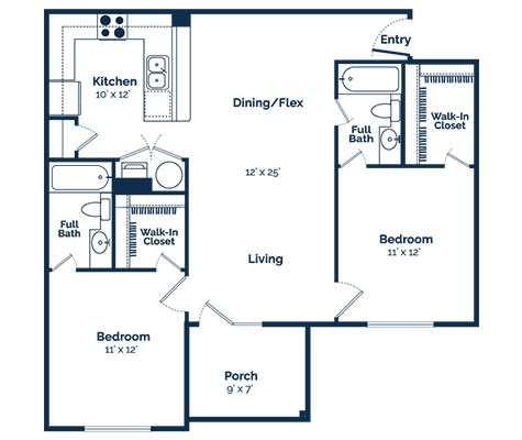 aspire 349 two bedroom floor plan