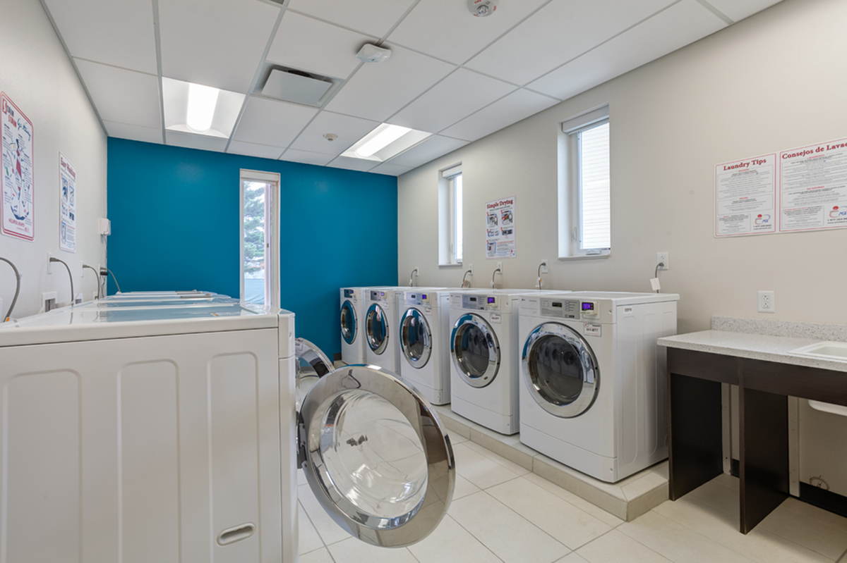Resident Laundry Room | UIowa University Apartments | Aspire at West Campus