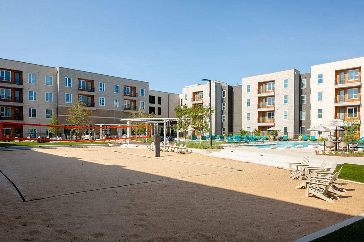 Image of Sand volleyball court for Northside Apartments