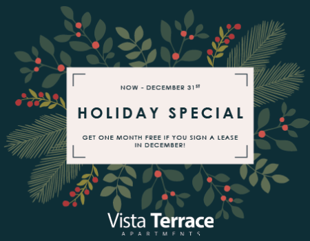 Sign a lease and get one month free this December to celebrate the holiday season!