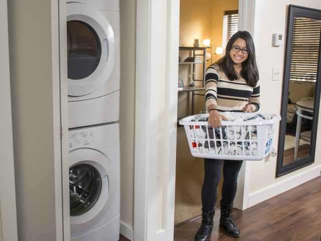 Enjoy the convenience of having your own washerdryer in the apartment to save you time AND money !