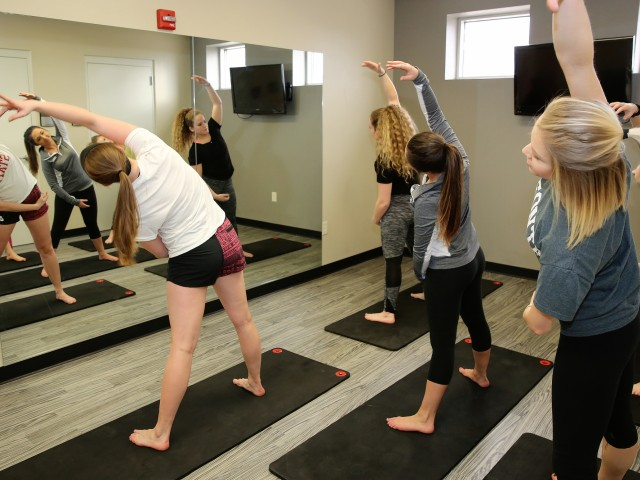 Work it out in the yoga studio at Hillside Commons!