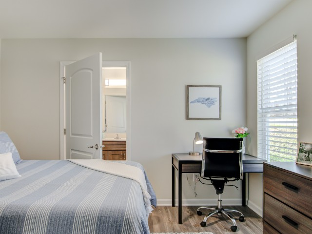 Image of Private Bedroom and Bathroom for The Villages at Wake Forest
