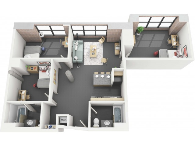Betty 3x2 - Floor Plan - Disclaimer: This floor plan is an approximation and may not include the most recent information.