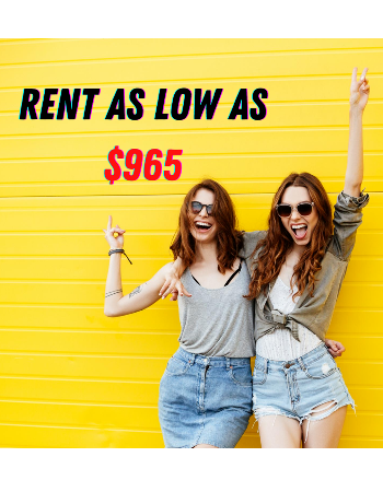 RENT SPECIAL - Rates as low as $965/mo for 4x4 floor plans. Apply today to secure your spot!