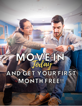 Move up to Varsity today! Sign a lease for immediate move-in and get your first month FREE!  Sign for 18 months and get your first 2 months FREE! Call us to find out more and schedule a virtual or in-person tour!