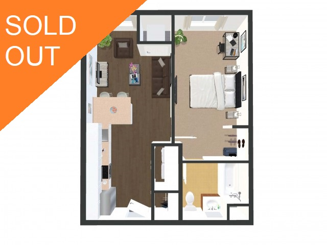 Oh No! This Unit Is SOLD OUT Until August 2022! Maybe Checkout Our 1x1 Floorplan While Supplies Remain?