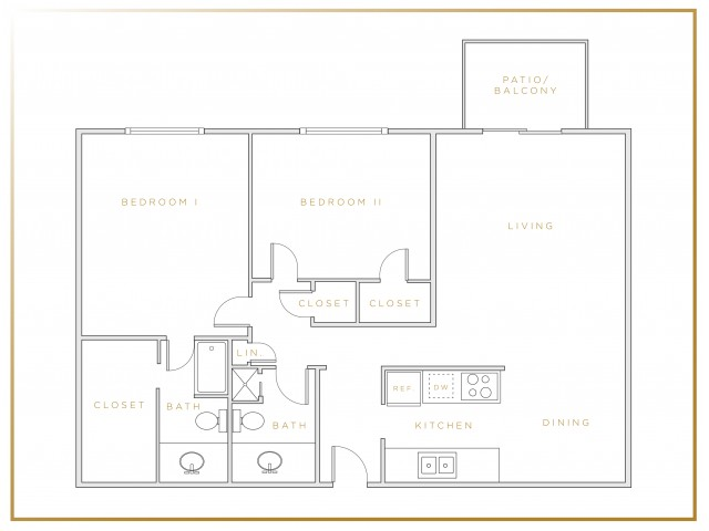 B3 | Two Bedroom | Two Bathroom