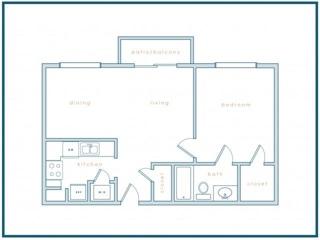 A1 | 1 Bedroom | 1 Bath