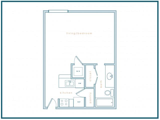 S1 | 0 Bedrooms | 1 Bath