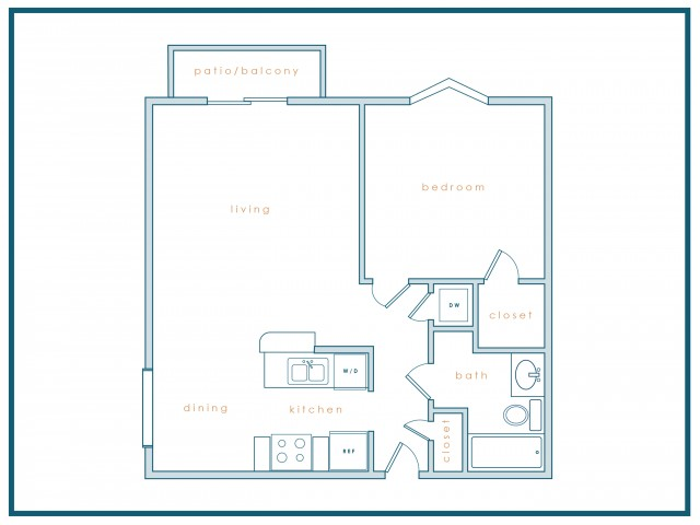 A3 | One Bedroom | One Bath