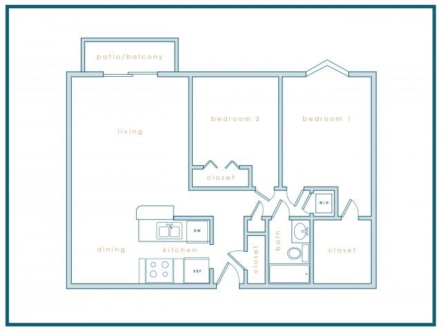 B1 | 2 Bedroom | 1 Bath