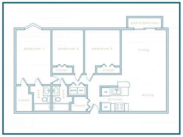C1 | Three Bedroom | Three Bath