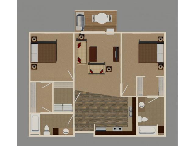 2 Bed/2 Bath (B3 Unit)