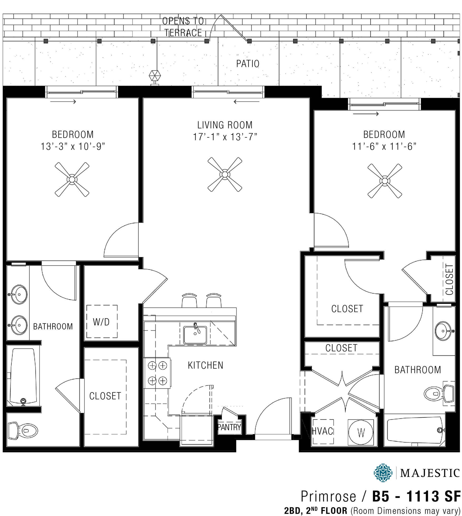 Two Bedroom Apartments | Majestic2