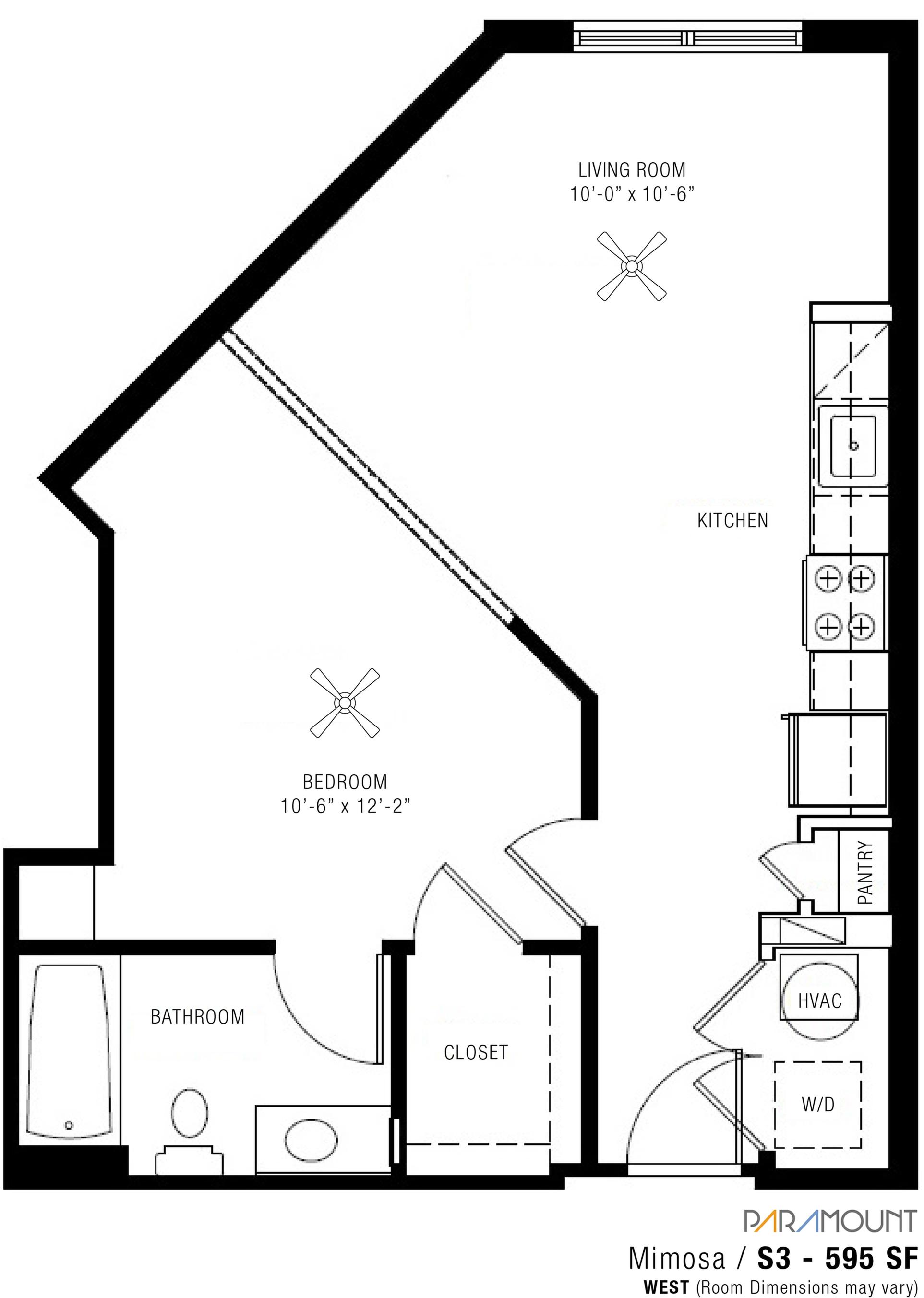 Studio 1 Bath Apartment In Gaithersburg Md Spectrum Paramount