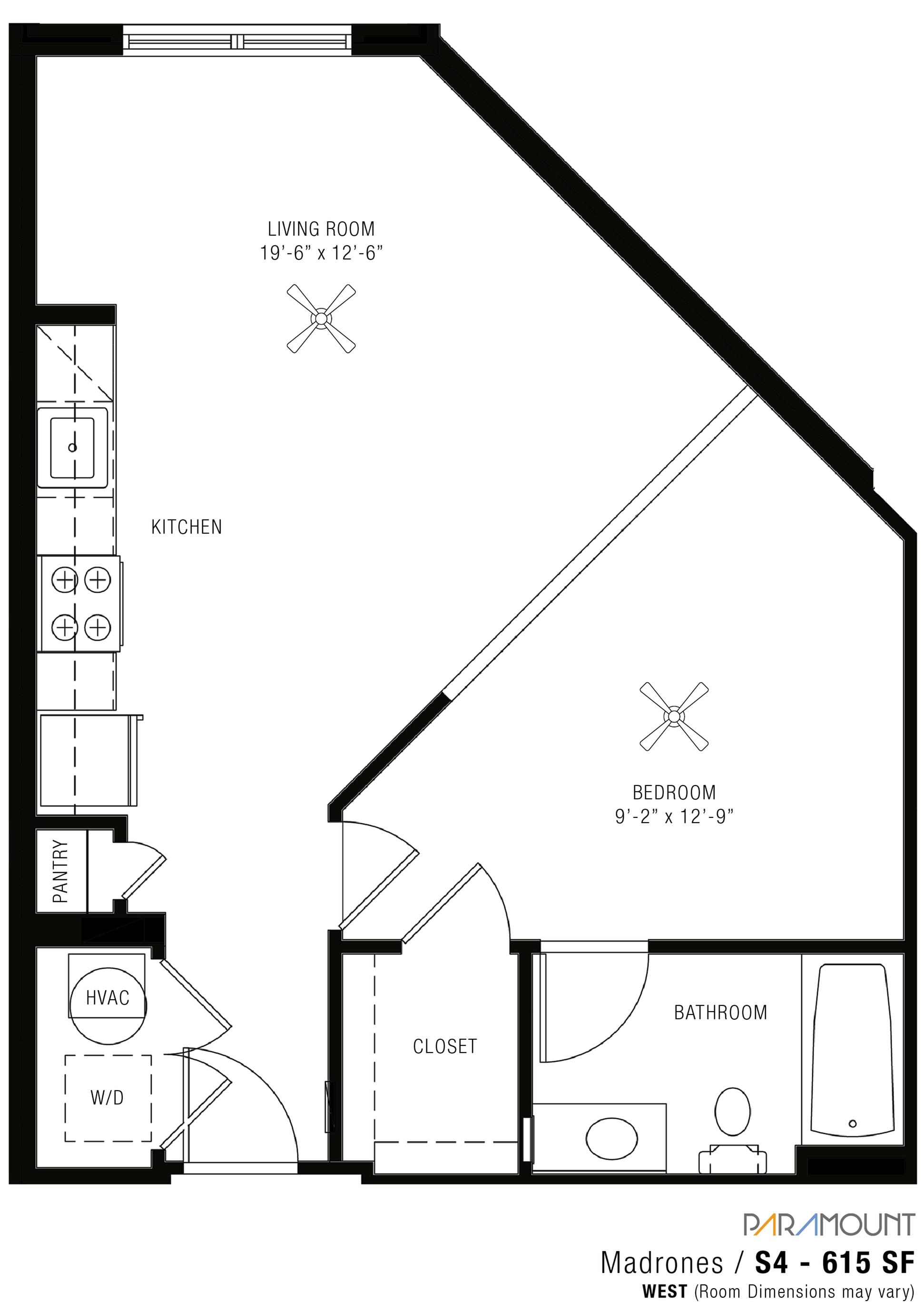 Spacious Floor Plans at Paramount