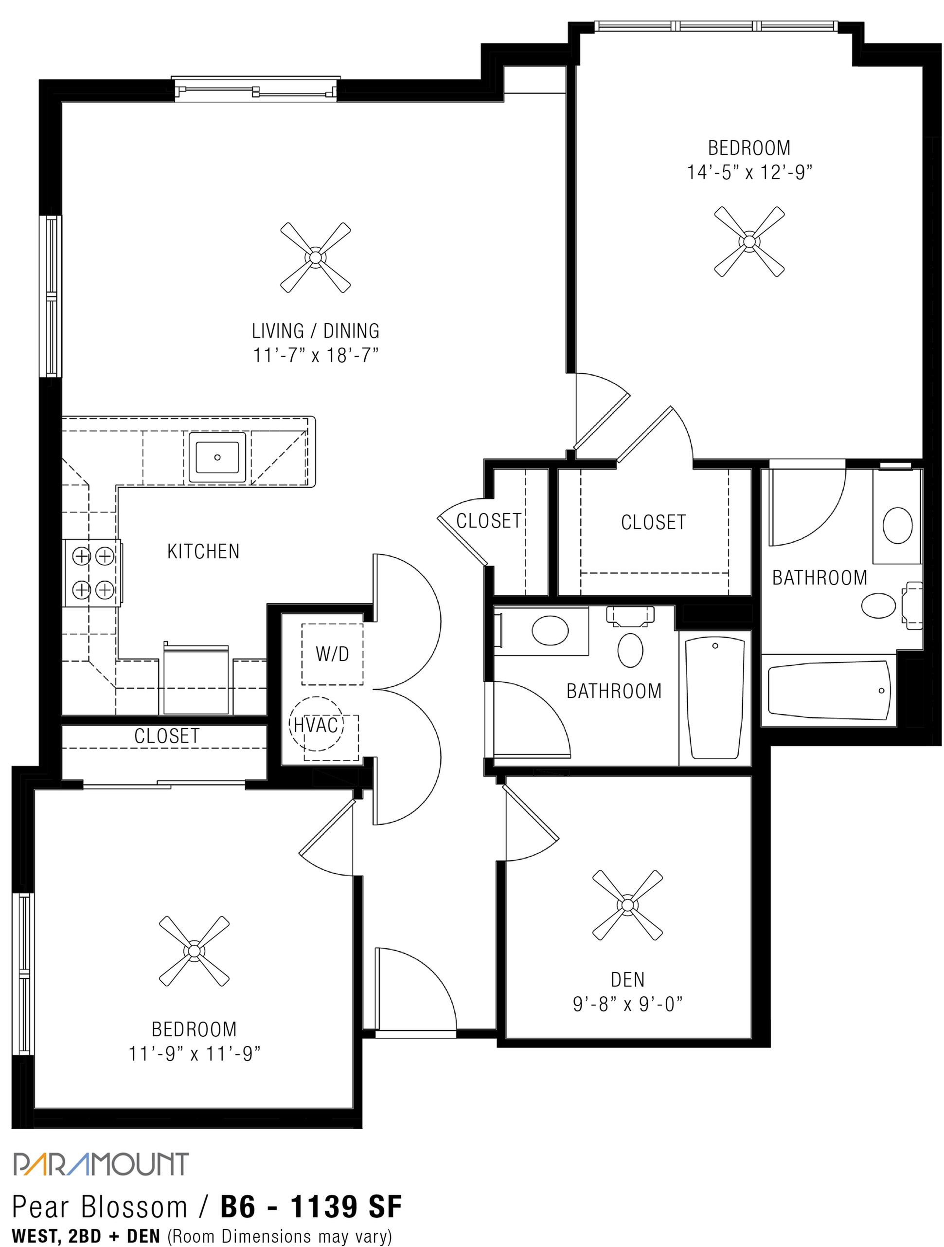 2 Bedroom Apartments   Paramount
