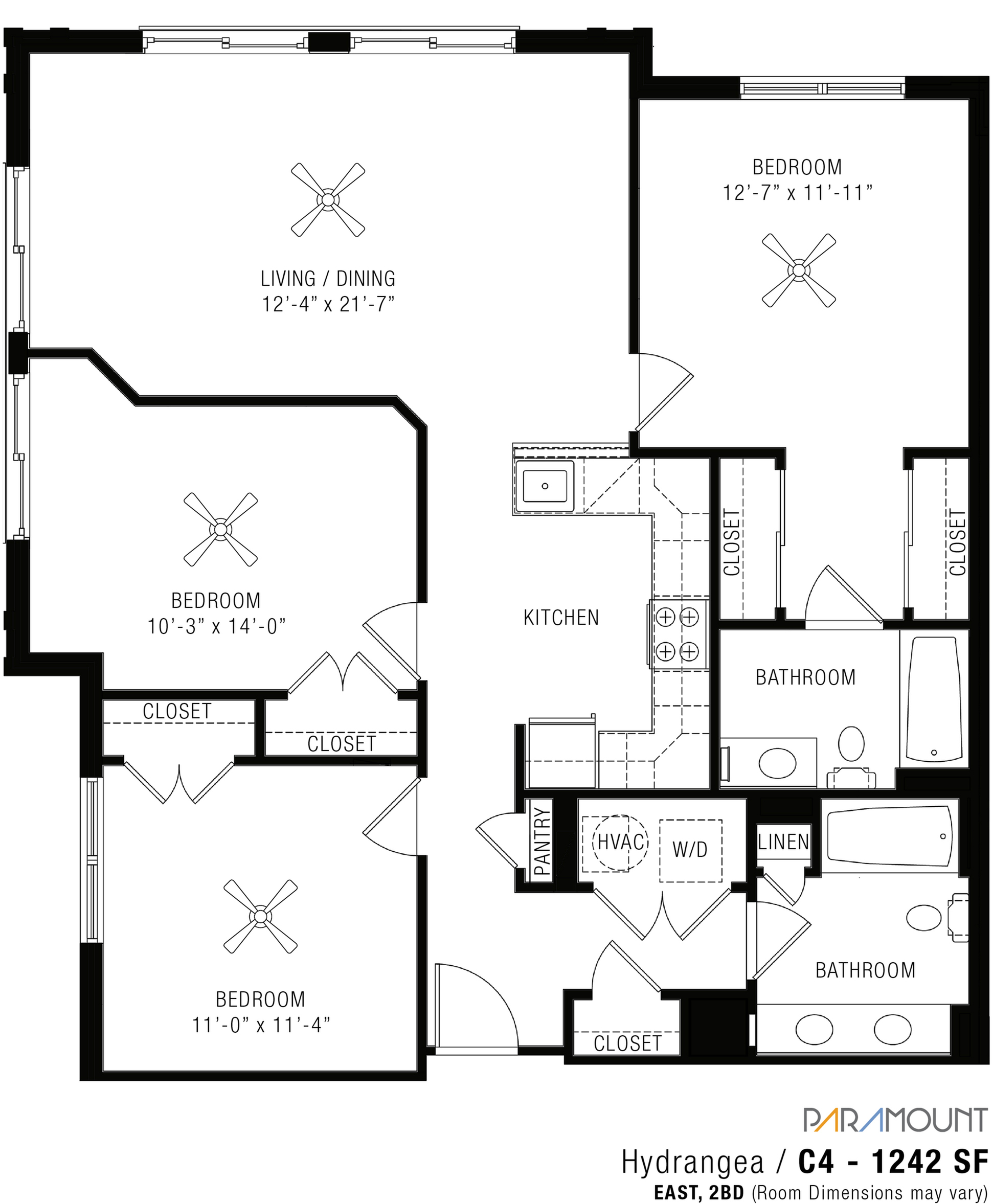 3 Bedroom Apartments   Paramount