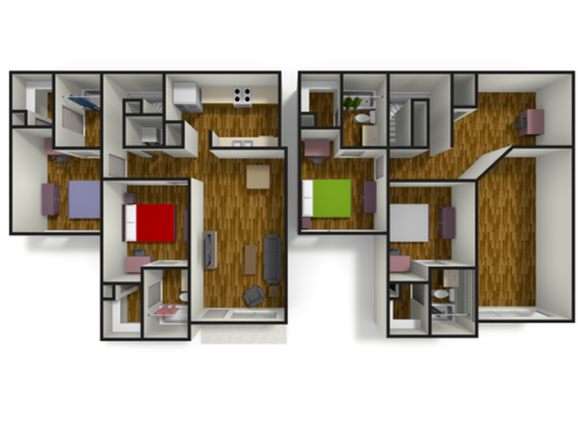 i4x4i Townhome with loft 4 Bed Apartment 5220 The Scarlet