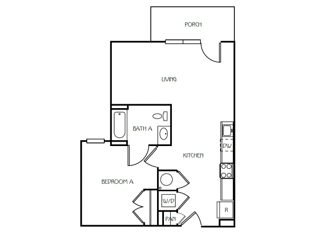 1 Bedroom / 1 Bathroom