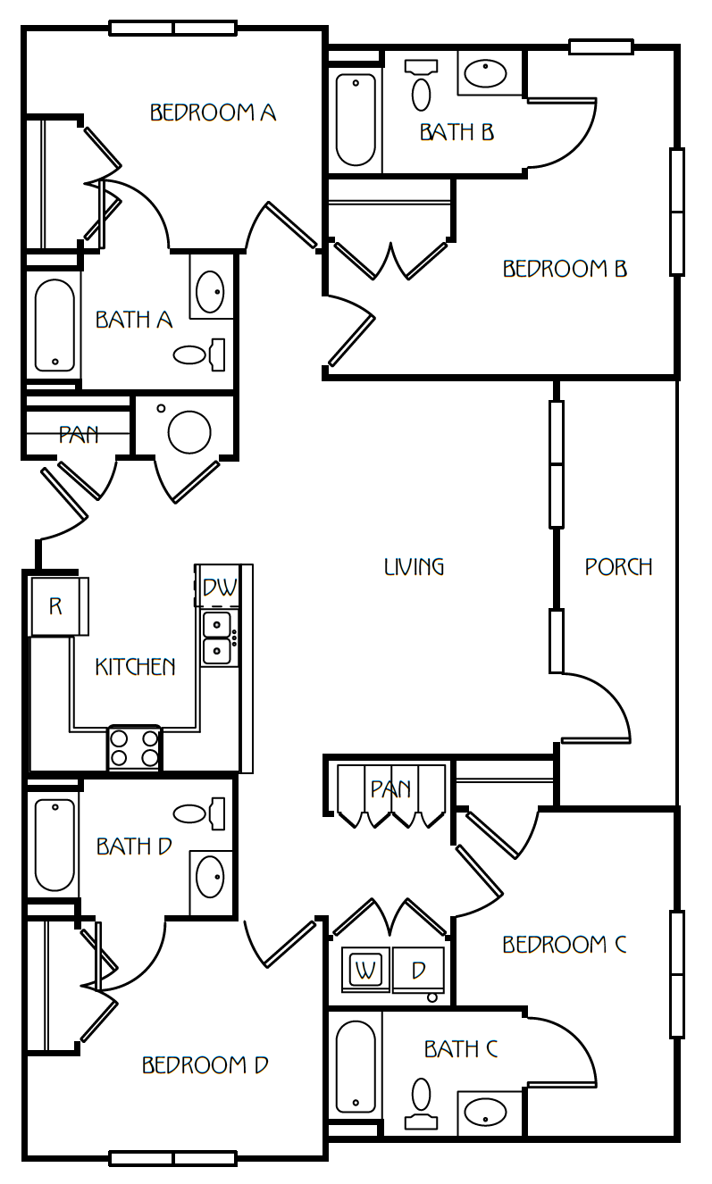 4 Bedroom / 4 Bathroom