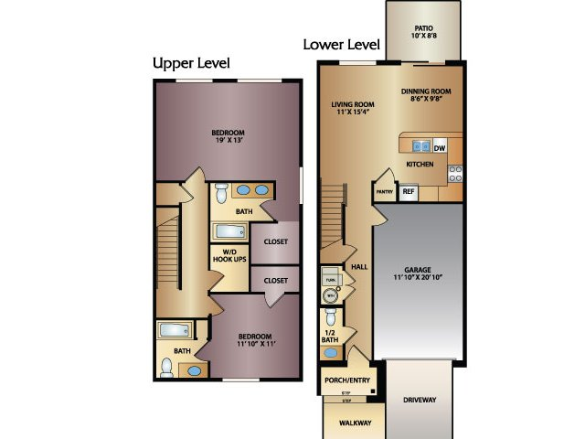 Creek 2x2.5 Floor Plan