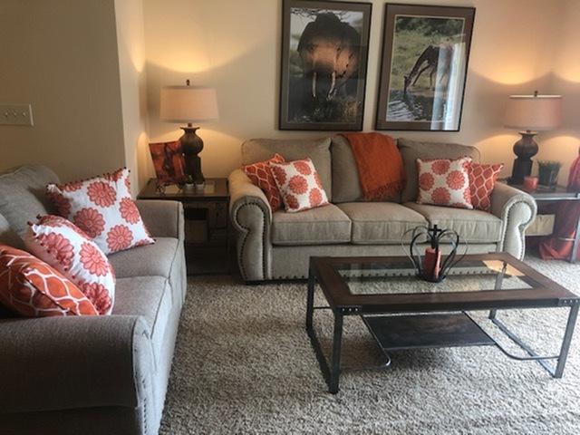 Model Living Room Furnished