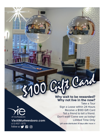 Sign a Lease within 24 hours & Receive a $100 Gift Card! *Limited Time Only
