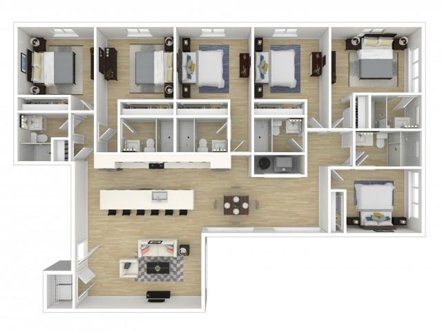 Viva at Capitol Hill Penthouse Flats Floor Plan
