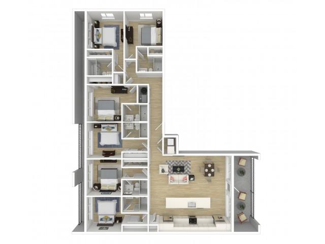 Viva at Capitol Hill Penthouse Overlook Floor Plan
