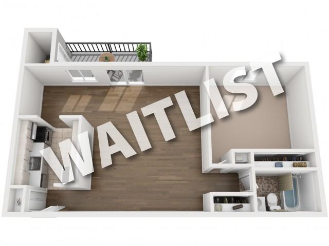 Floorplan 1 BR - Waitlist