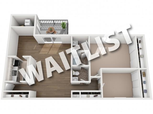 2 Bedroom floorplan waitlist