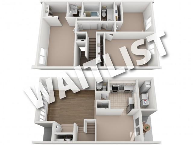 3  Bedroom floorplan waitlist