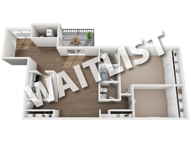 Floorplan 2 bedroom with den - waitlist