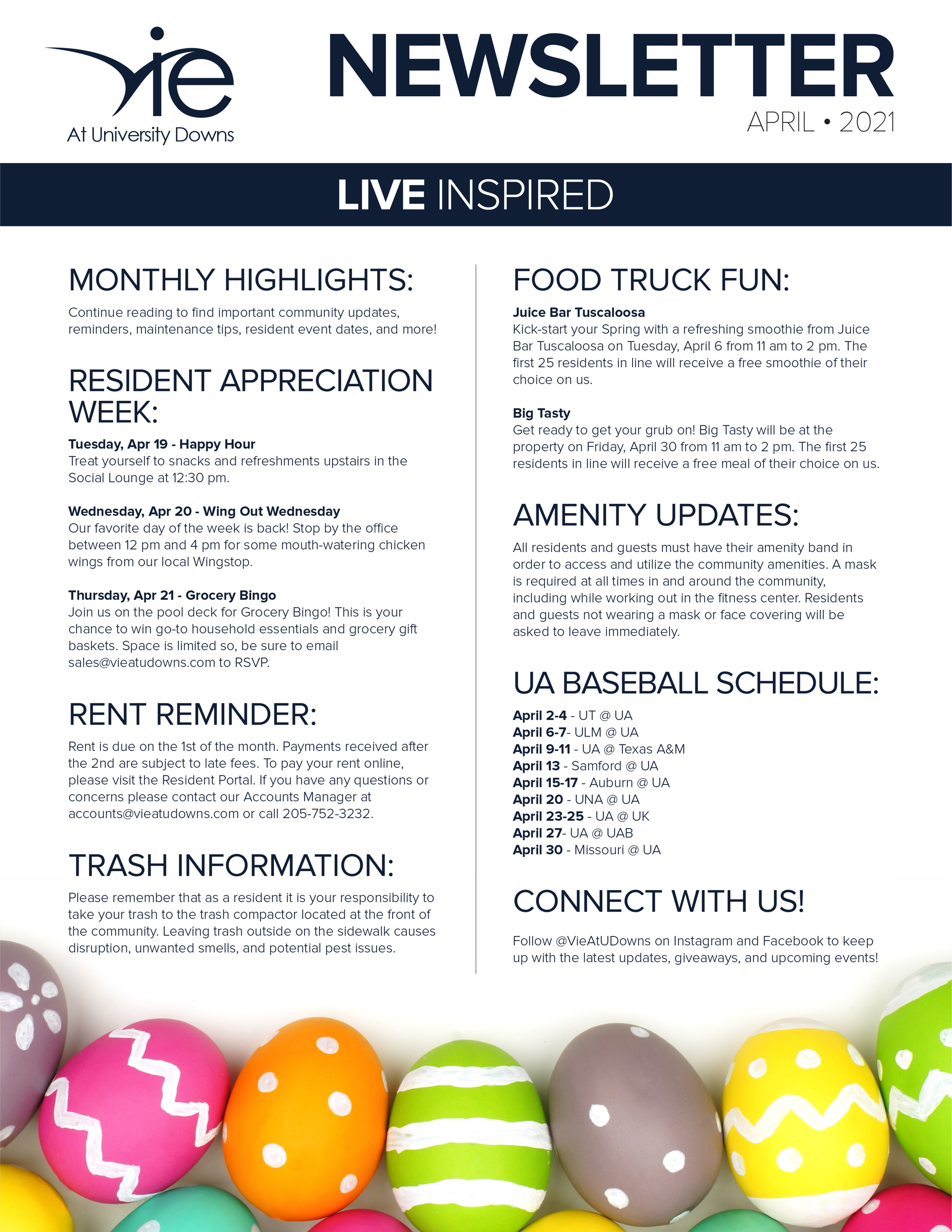 Monthly Updates & Upcoming Events (April)-image