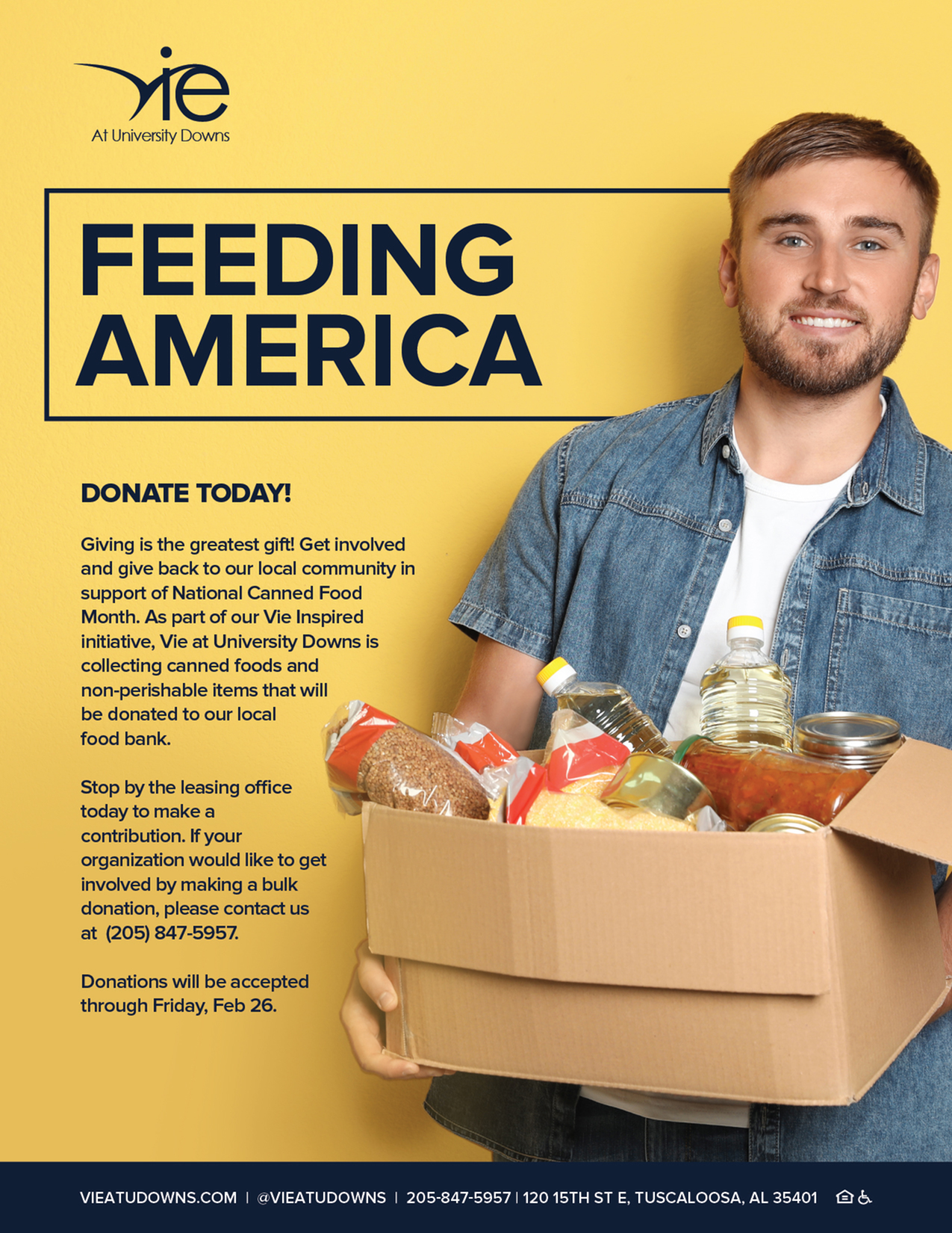Donate Today! National Canned Food Month-image