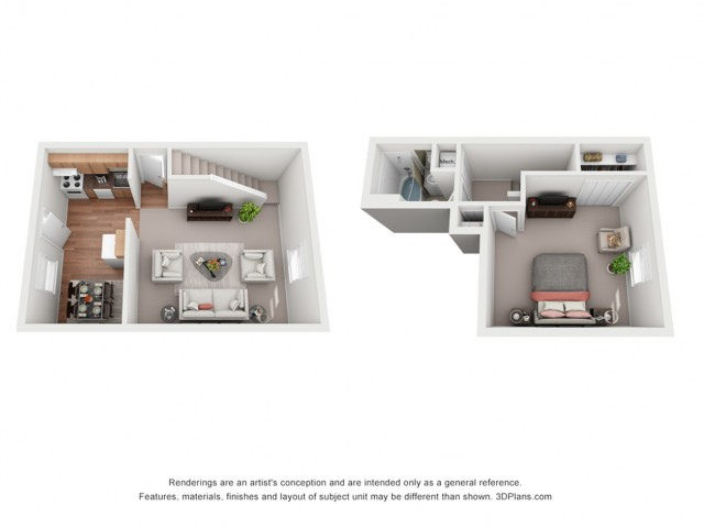 1 Bedroom Deluxe Townhouse