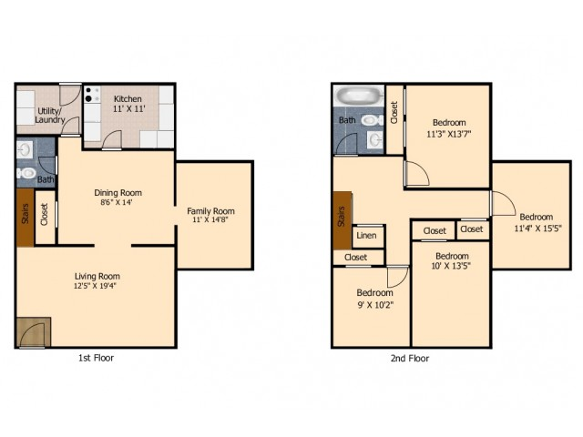 4 Bedroom Townhouse