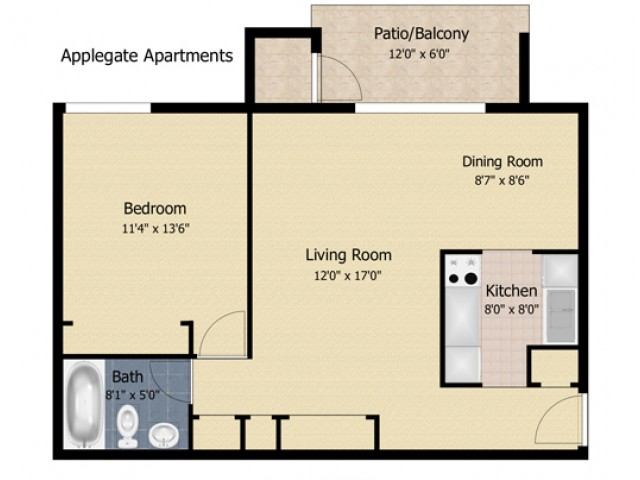 1 Bedroom AP