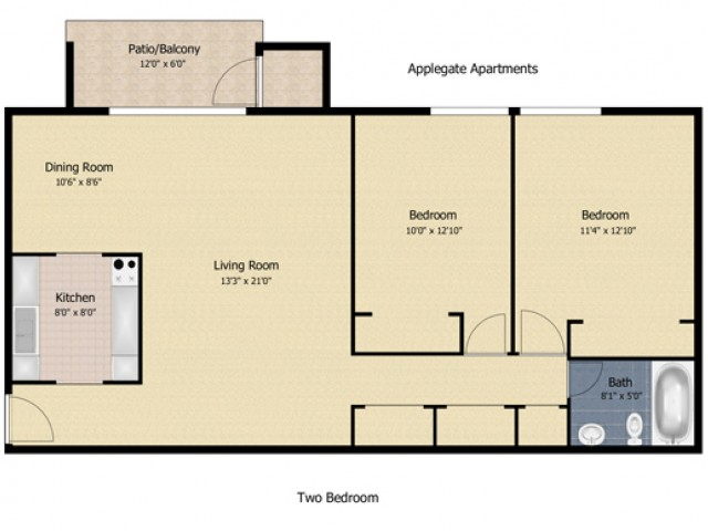 2 Bedroom AP